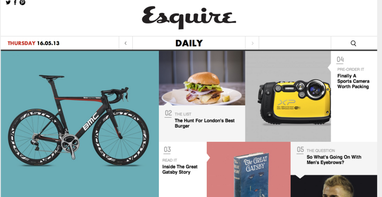 Esquire website